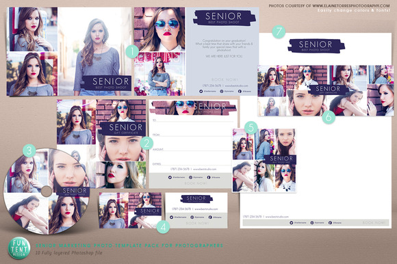 Senior Marketing Photo Template Kit