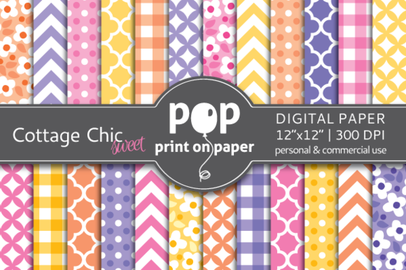 Cottage Chic 24 Digital Papers