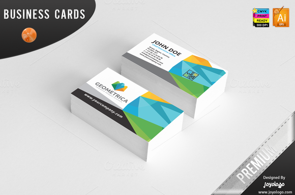 3D Geometric Polygonal Business Card