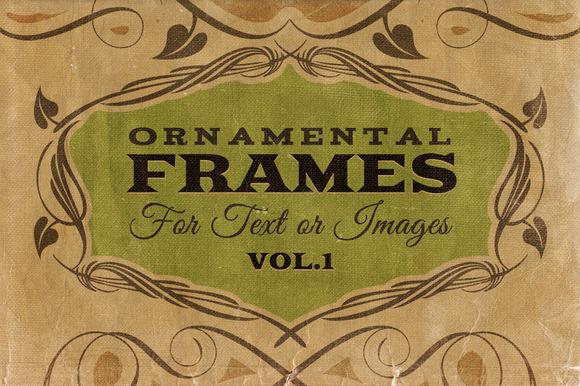 Ornamental Frames Vol.1