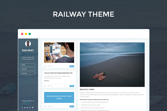 RAILWAY Responsive Tumblr Theme