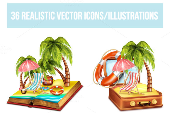 36 Travel Vector Icons Illustrations