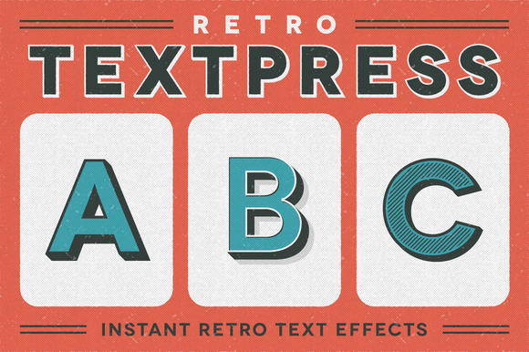 Retro Textpress Illustrator Styles