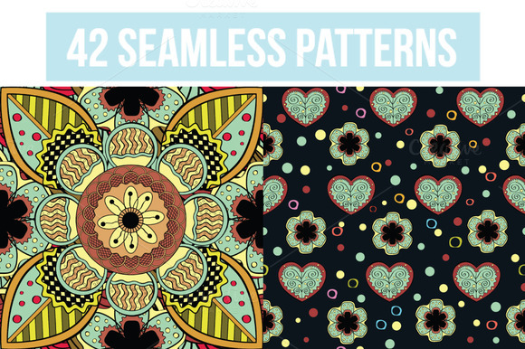 42 Different Seamless Patterns
