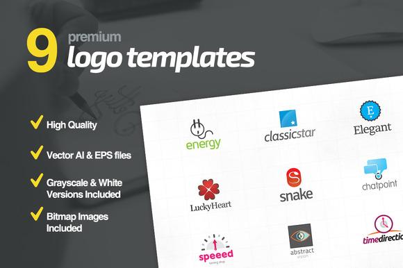 9 Premium Logo Templates