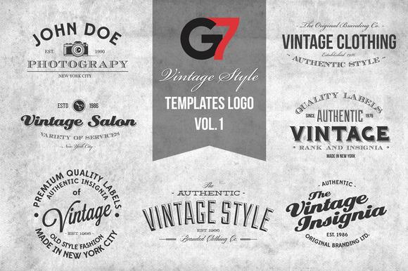 Vintage Style Templates Logo Vol 1