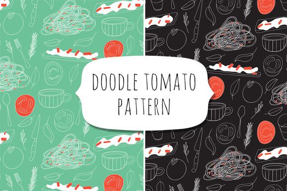 Doodle Tomato Pattern
