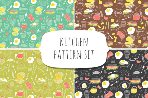 Kitchen Pattern Set