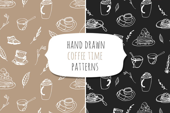 Coffee Time Hand Drawn Set