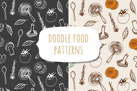 Doodle Food Patterns