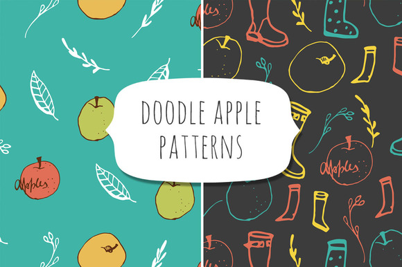 Doodle Apple Patterns