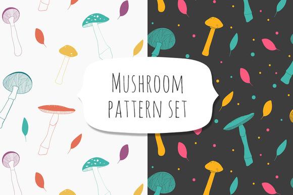 Mushroom Pattern Set