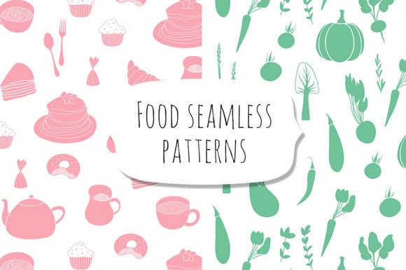 Food Seamless Patterns