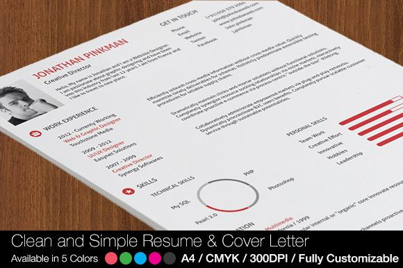 2-Piece Clean Simple Resume Set