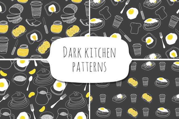Dark Kitchen Patterns