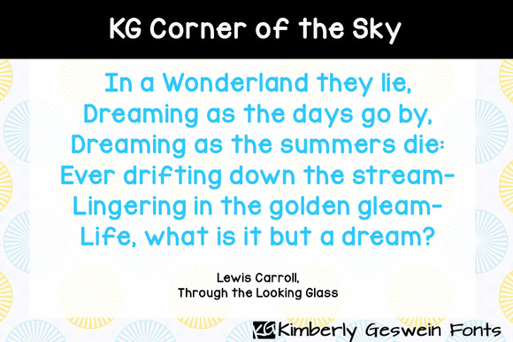 KG Corner Of The Sky