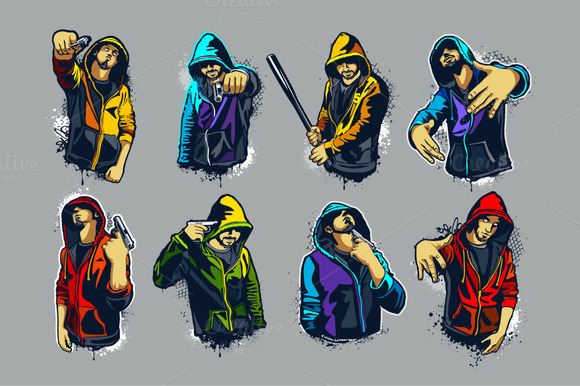 8 1 Gangsters Set