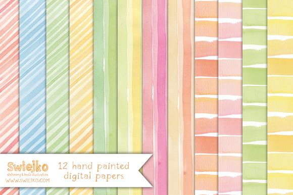 Watercolor Paper Stripes