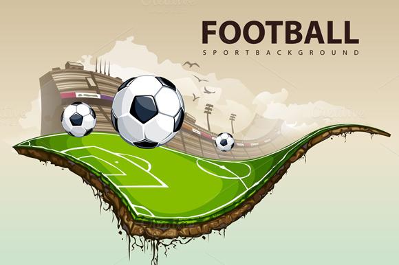 Surreal Football Vector
