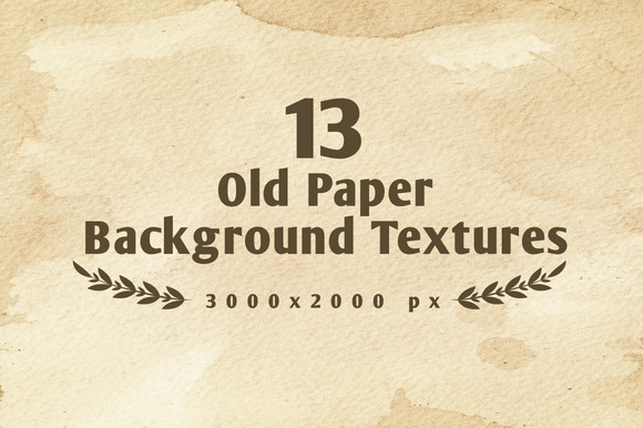 Set Of 13 Old Paper Backgrounds