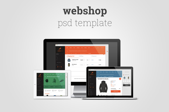 Multipurpose Flat Shop Design PSD