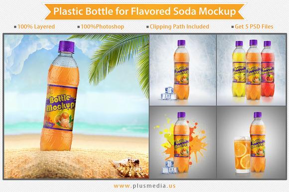 25% Off Plastic Bottle Mockup