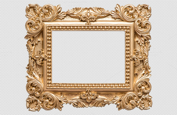 Golden photo frame design png designtube creative for Pictureframes net