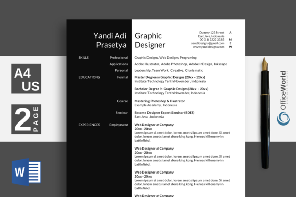 Black White Elegant Resume CV