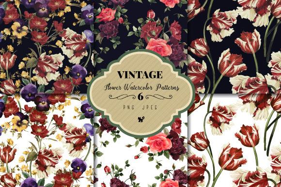 Seamless Floral Patterns Bundle