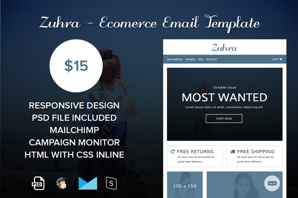Zuhra EComerce Email Template