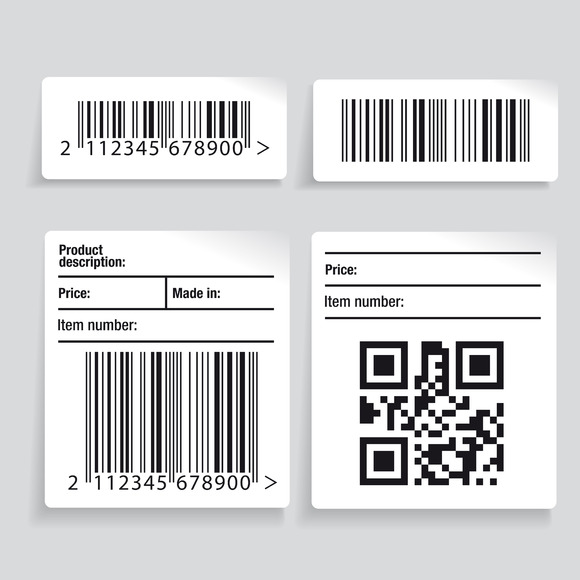 Barcode Label Vector Set