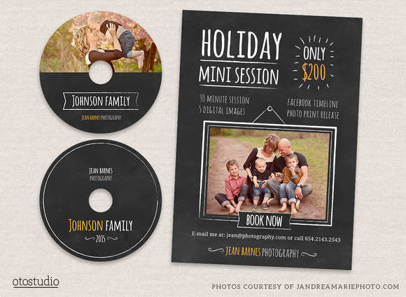 Holiday Minis Flyer Cd Labels