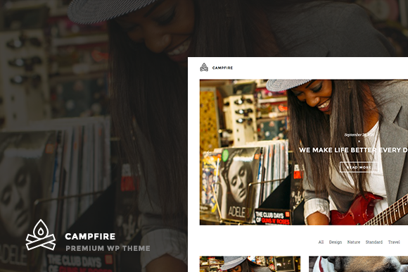 Campfire WP Blog Theme