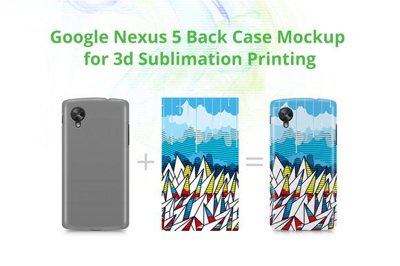 Nexus 5 3D Case Design Mockup