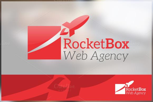 Rocket Box Company Logo Template