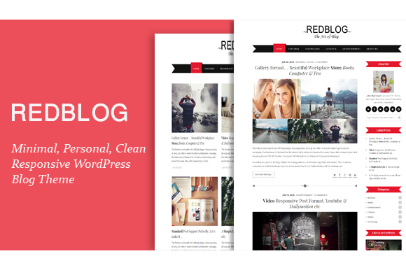 Redblog WordPress Blogging Theme