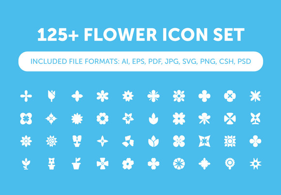 125 Flower Icon Set