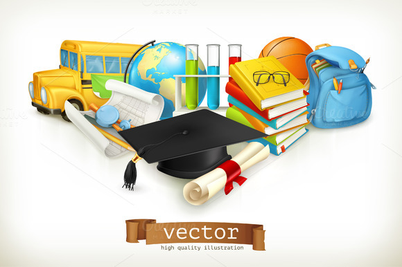 School Illustration Icons