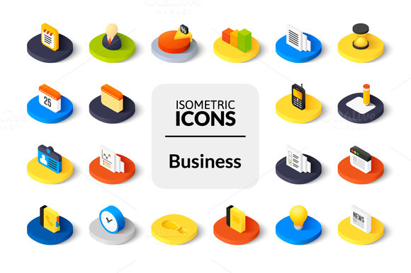 Isometric Icons Business