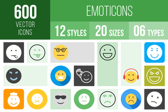 600 Emoticons Icons