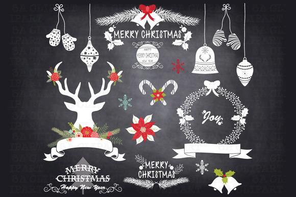 Chalkboard Christmas Clipart