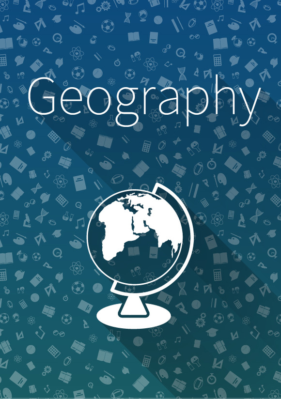 §іover Geography On Blue Background