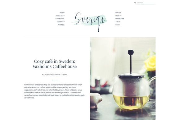 Feminine WordPress Theme Sverige