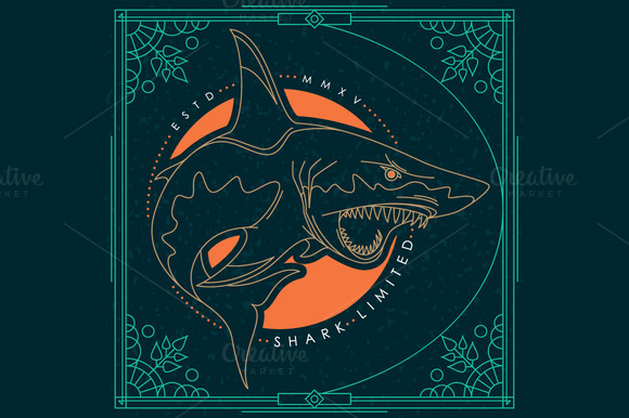 Thin Line Shark Label