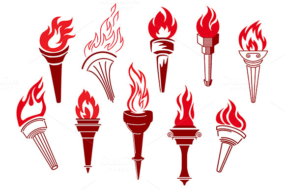 Flaming Retro Torches