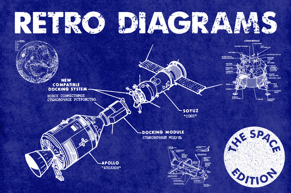 Retro Vector Diagrams 32 Items