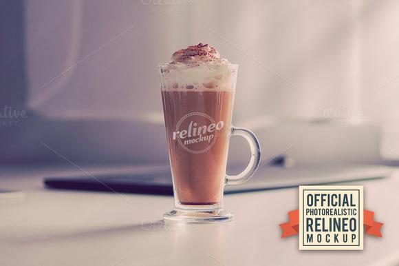 Photorealistic Coffee Logo Mockup 14