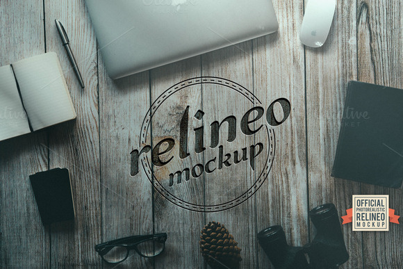Wood Surface Mock-up 1 Relineo