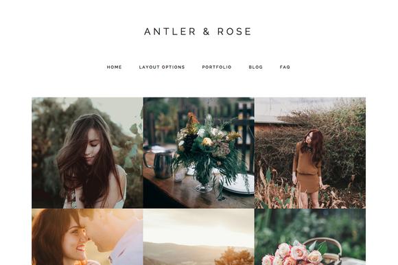 Antler Rose Genesis Child Theme