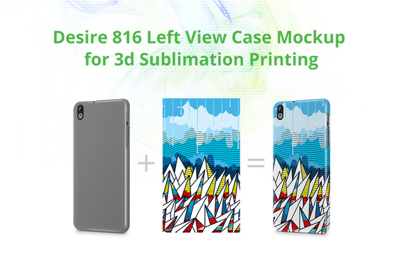Desire 816 3D Case Design Mock-up